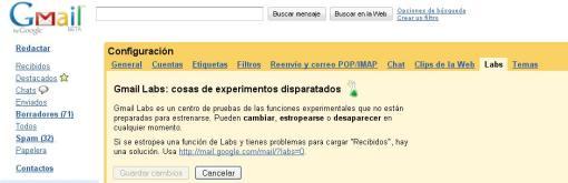 Gmail Labs ahora en español